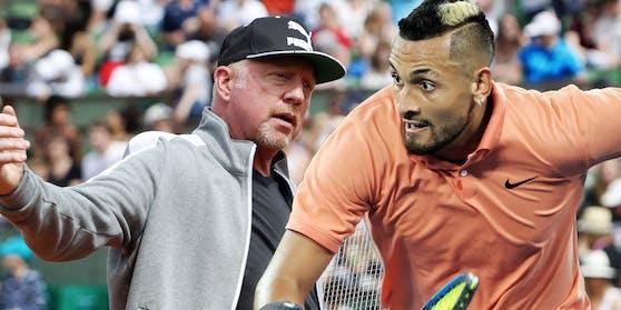 Boris Becker gegen Nick Kyrgios - ein heftiges Wortduell.