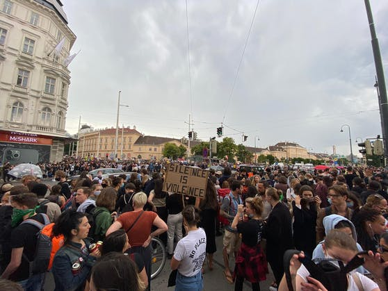 Demo gegen Rassismus in Wien (Archivbild).