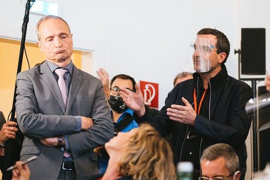 Wolfgang Gerstl (ÖVP) und Florian Klenk beim Ibiza-U-Ausschuss.