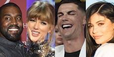 """""""Forbes""""-Liste: Das sind die bestbezahlten Promis 2020"""