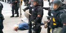 Polizei stößt Mann (75) um, lässt ihn blutend liegen