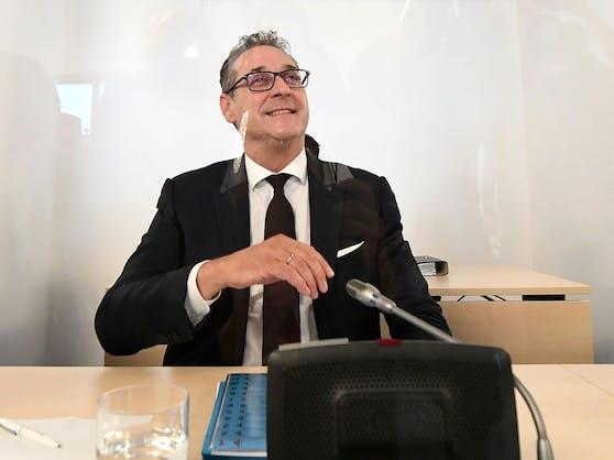 Ex-Vizekanzler Heinz-Christian Strache im Rahmen des Ibiza-U-Ausschusses im Parlamentsausweichquartier in der Hofburg in Wien.
