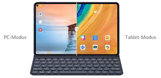 Wozu eine endgültige Entscheidung treffen, wenn man beides haben kann - PC-Modus UND Tablet-Modus!