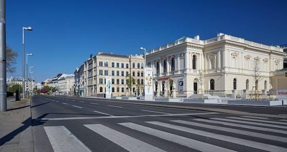 In Wien waren die Straßen im April menschenleer.