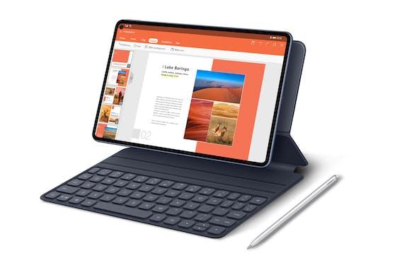Die ideale Ergänzung zum Huawei MatePad Pro:Huawei M-Pencil und der Smart Magnetic Keyboard.