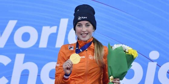Lara van Ruijven jubelte 2019 über WM-Gold.