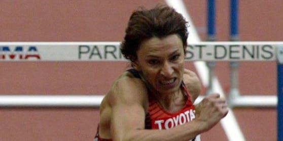 Svetlana Gnezdilov bei der Weltmeisterschaft 2013 in Frankreich.