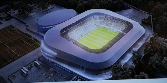 Ein Hauch von großer Fußballwelt! So könnte das neue Stadion des LASK aussehen.