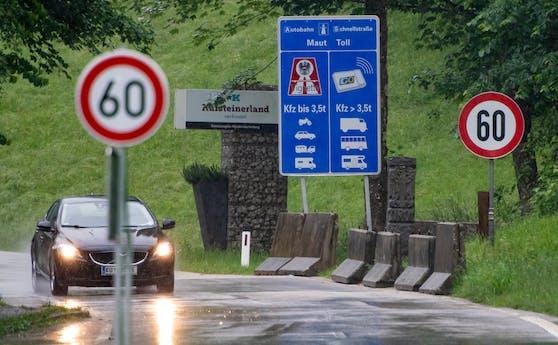 Die Grenze zwischen Tirol und Bayern im Kufsteiner Land