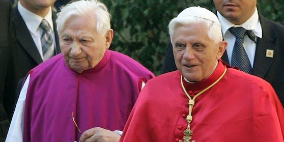 Georg Ratzinger (links) wurde 96 Jahre alt