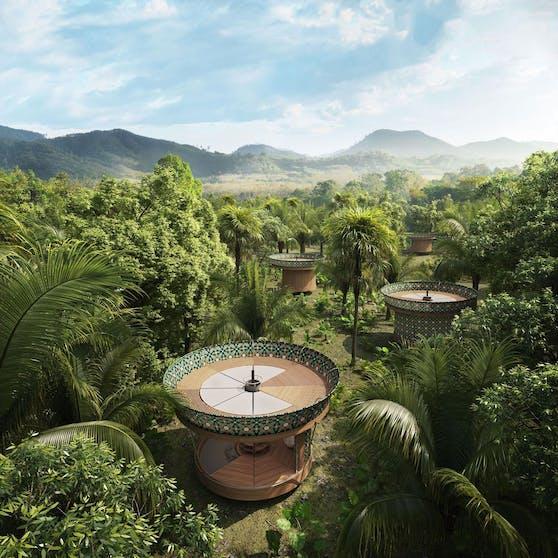 """""""Tiny House""""-Konzepte schießen derzeit wie Schwammerl aus dem Boden. Doch jenes der italienischen Architektin Beatrice Bonzanigo – Casa Ojalá – erinnert gar an eine Wundertüte in Form eines Spielzeugkreisels."""
