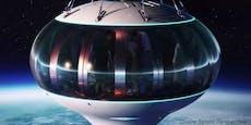 Mit diesem Ballon kann man zum Weltall reisen
