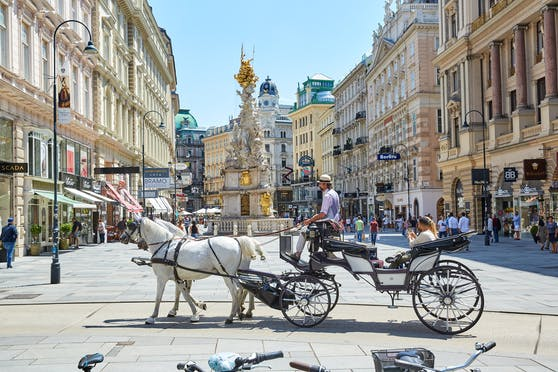 In Wien bekommen Fiaker-Pferde erst ab 35 Grad hitzefrei. Tierschützer wollen die Regelung auf 30 Grad senken, die FPÖ Wien fordert Zelte mit Sprühnebel-Anlagen zur Abkühlung.