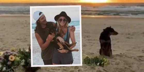 Ellidy Vlug und der gemeinsame Hund Rummi trauern um Alex Pullin.