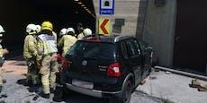 39-Jähriger kracht in Tunnel-Portal