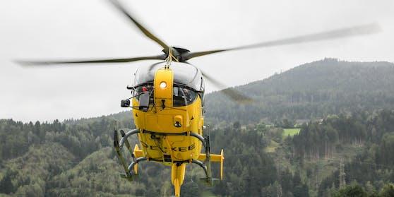 """Die vier Kletterer aus Tschechien wurden mit einem Hubschrauber aus dem""""Sulzlbach Canyon"""" geborgen (Symbolbild)"""