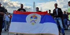 Serben-Demo in Wiener City sorgte für Unruhe