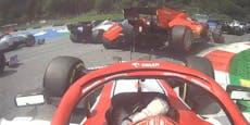 Ferrari-Stars fahren sich nach drei Kurven ins Auto