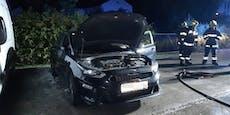 Mysteriöser Brandanschlag auf Auto