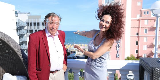 Richard Lugner und Mausi in Lignano.