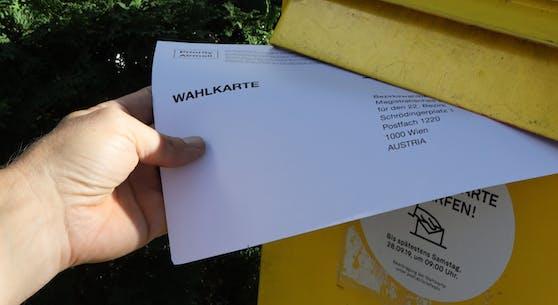 Die Briefwahl-Karte für die Wiener Gemeinderats- und Bezirksvertretungswahlen 2020 muss bis spätestens am Wahltag um 17 Uhr an der richtigen Stelle sein.