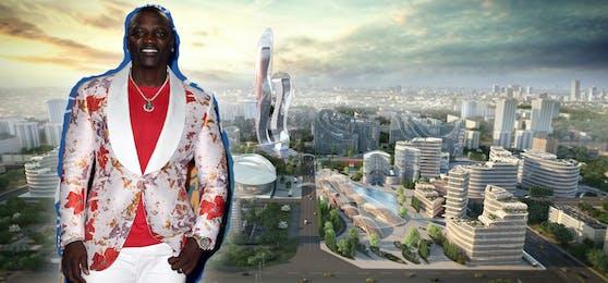 """Akon ist Musiker, Songwriter und Produzent – und neuerdings auch Städtebauer: Im Senegal plant er eine eigene Stadt, die """"Akon City""""."""