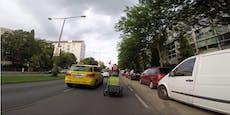 Video zeigt lebensgefährliche Radfahrt in Wien