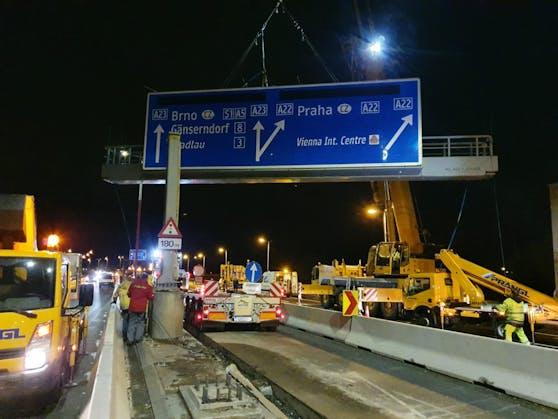 Wegen Sanierungsarbeiten werden von 17. bis 20. Juli beim Knoten Kaisermühlen zwei Auffahrten auf die A23 gesperrt. Umleitungen wurden eingerichtet.