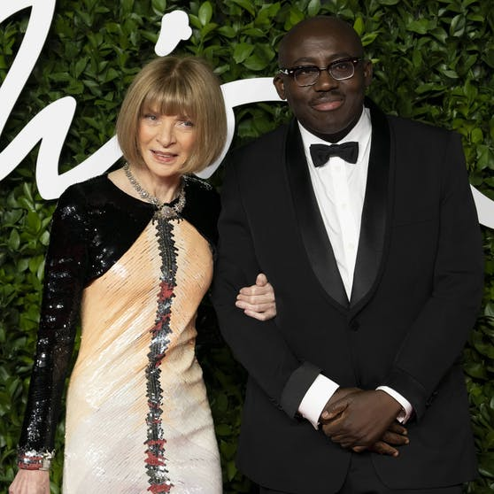 "US-""Vogue""-Chefin Anna Wintour mit Edwar Enninful."