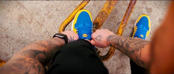 Um den Lidl-Sneaker gab es bereits in der Schweiz einen großen Hype.
