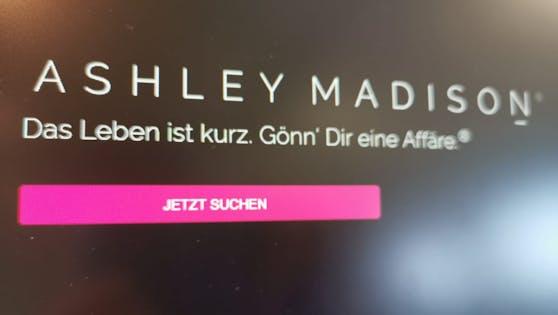 """""""Das Leben ist kurz, gönn dir eine Affäre"""" ist das Motto der Dating-Website Ashley Madison."""