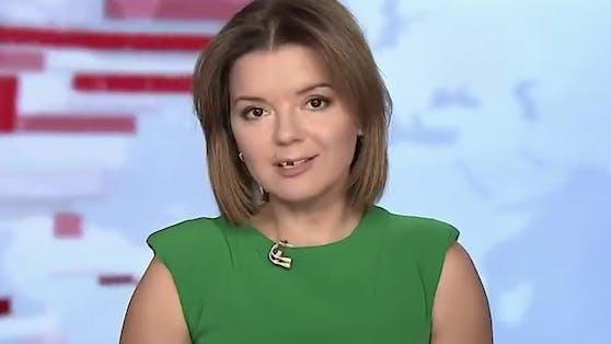 News-Anchor Marichka Padalko blieb trotz fehlendem Schneidezahn cool.
