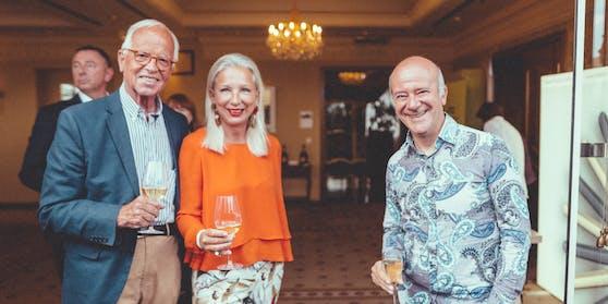 Werner und Martina Fasslabend mit Entertainer Andy Lee Lang
