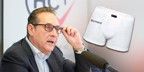 Heinz-Christian Strache verkaufte kurzzeitig Unterhosen in einem Web-Shop.