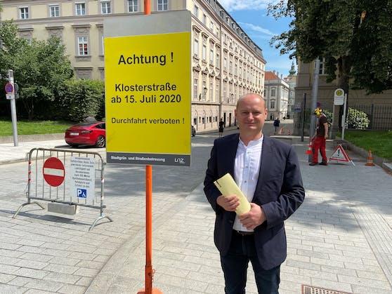 Da war Hein noch für die Sperre der Klosterstraße und den autofreien Hauptplatz.