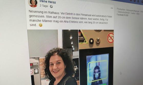 Irene Heisz trat auf Facebook ins Fettnäpfchen.