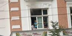 Fluchtweg abgeschnitten: Kinder rufen in Wien um Hilfe