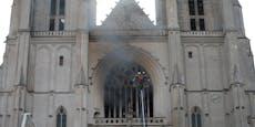 Großbrand in der Kathedrale von Nantes
