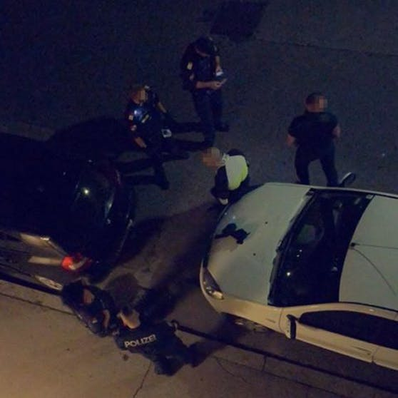 Polizei-Einsatz in der Haberlgasse (Ottakring)