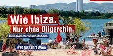 """Öffis werben für Wien als """"Ibiza ohne Oligarchin"""""""