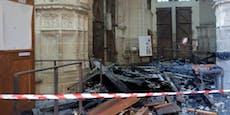 Verdächtiger nach Brand in Kathedrale festgenommen