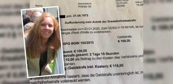 Mutter (47) mit Antrittsaufforderung zur Ersatzfreiheitsstrafe