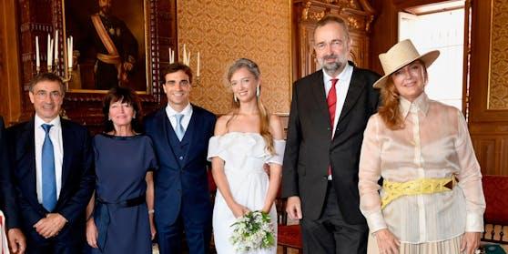 Henri und Giselle d'Ambrosio, Jérôme d'Ambrosio, Eleonore Habsburg, Karl Habsburg und Francesca Thyssen-Bornemisza