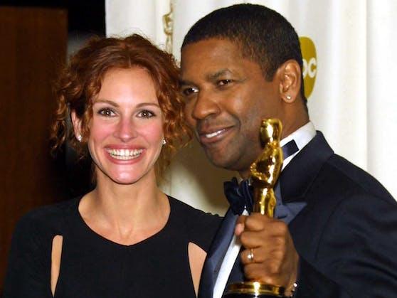 Die Hollywood-Superstars Julia Roberts (li.) und Denzel Washington stehen wieder gemeinsam vor der Kamera.