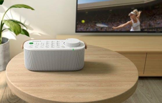 Beim Fernsehen besser hören mit dem kabellosen TV-Lautsprecher SRS-LSR200.
