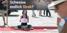 """""""Falsche"""" Köstinger bei Protest in der City gesichtet"""