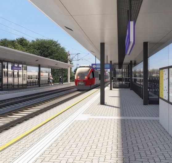 Visualisierung: So soll der Bahnhof Silberwald aussehen.