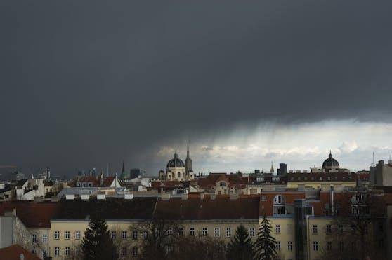 Gewitter in Wien.