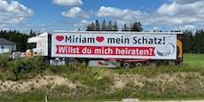 Erwin machte Miriam einen HeiratsanTRUCK