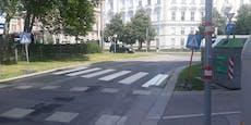 Dieser Wiener Zebrastreifen führt ins Nichts